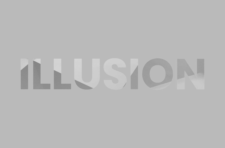 scritta illusion